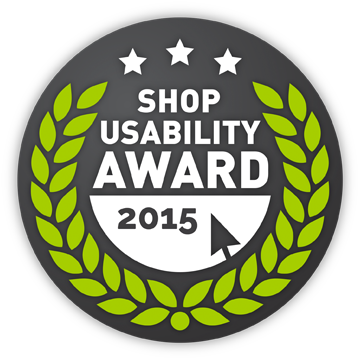Online Shop Nominiert beim Shop Usability Award 2015